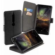 Zwart Y Wallet Bookcase voor Nokia 6 (2018)