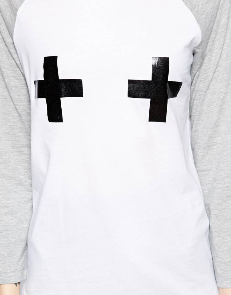 Baseball Top with cross