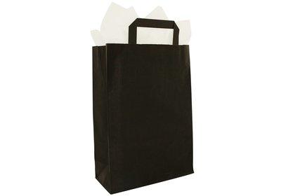 Papieren lus draagtas zwart