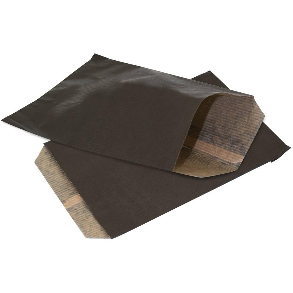 Accessoires zakje zwart glansbeek draagtassen for Papieren kraft zakjes