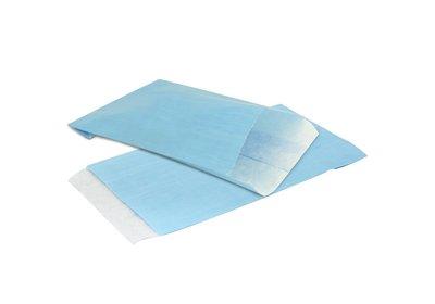 Papieren Kraft zakjes á 1000 stuks aqua blauw