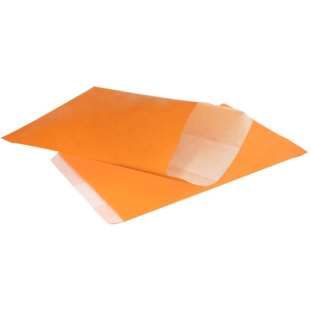 Papieren kraft zakjes 1000 stuks oranje glansbeek for Papieren kraft zakjes