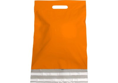 Plastic verzendtas oranje