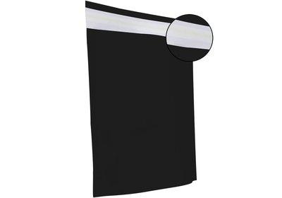Papieren verzendzak brede bodem zwart
