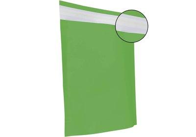Papieren verzendzak brede bodem groen