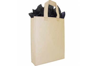 Zero Tree Eco draagtas papier/abaca croco look ivoor