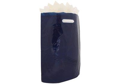 Plastic draagtas met gestanste handgreep donkerblauw