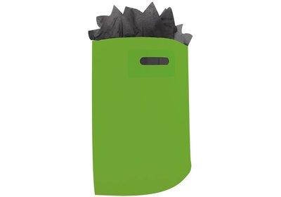 Plastic draagtas met gestanste handgreep groen