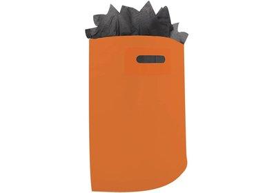 Plastic draagtas met gestanste handgreep oranje