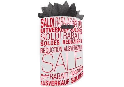 Plastic draagtas met gestanste handgreep sale wit