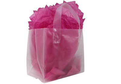 Plastic lus draagtas Take Away Semi-transparant