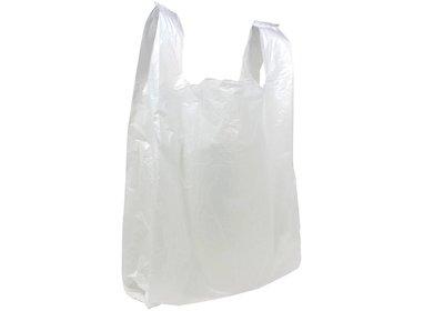 Plastic hemddraagtas wit