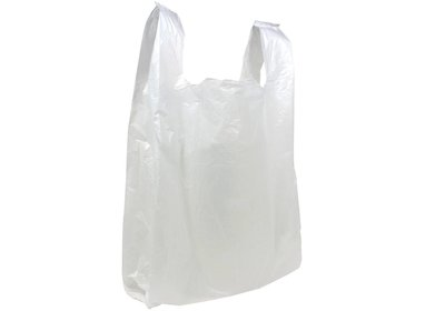 Plastic hemddraagtas extra groot wit