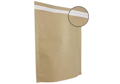 Papieren verzendzak brede bodem bruin