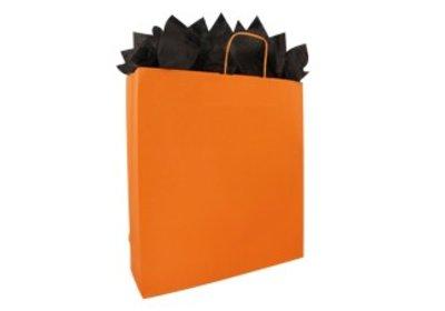 Papieren twisted draagtassen oranje SALE