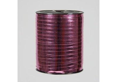 Krullint 5mm 500m metallic roze