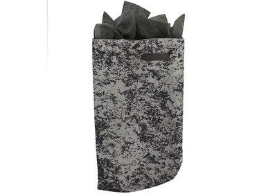 Plastic draagtas met gestanste handgreep marmer