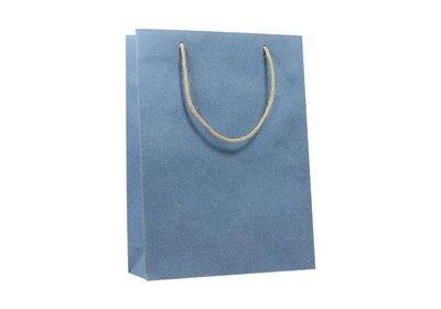 Zero Tree Eco draagtas papier/katoen/gras/jute Jeans blue