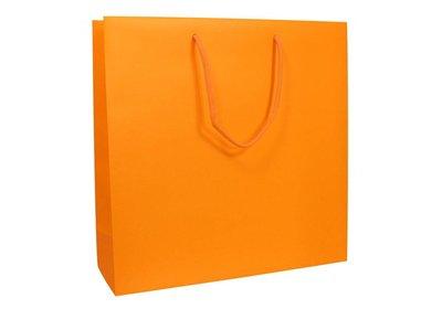 Papieren koorddraagtas Fluor Oranje
