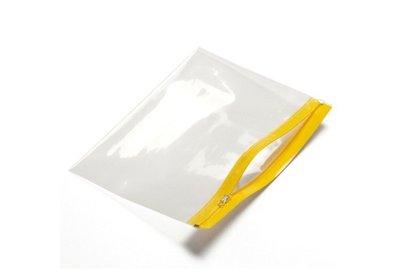 Polyzip zakken met hersluitbare rits Geel verpakt á 100 stuks