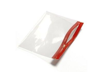 Polyzip zakken met hersluitbare rits Rood verpakt á 100 stuks