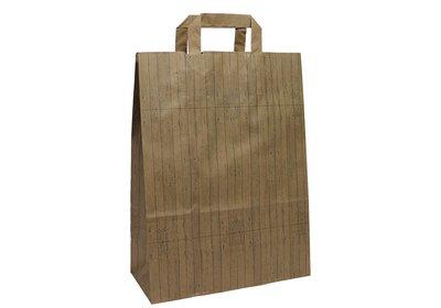 Eco papieren lus draagtas Wood