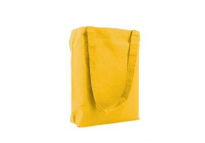 Katoenen Eco draagtas geel