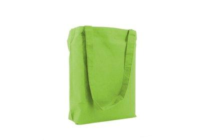 Katoenen Eco draagtas groen