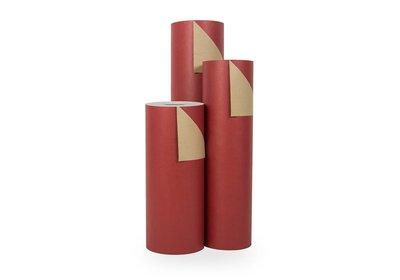 Kadopapier 30/50 cm 200 meter uni rood