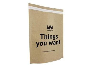 Verzendzakken papier bedrukt met uw logo ca.10 werkdagen 14.3