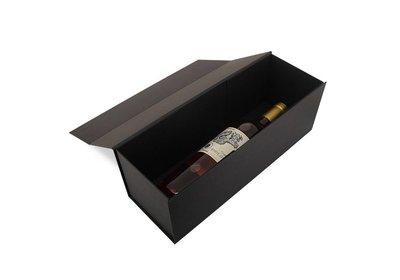 Luxe magneet doos zwart voor 1 fles