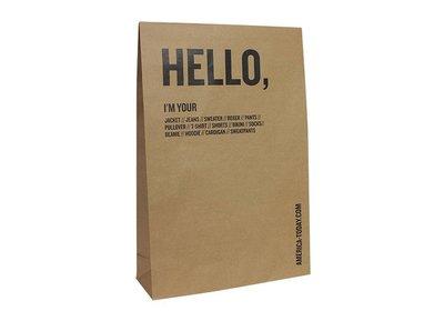 Papieren verzendzakken bedrukt met uw logo ca.10 á 12 weken
