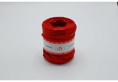 Raffialint 15mm 200m rood