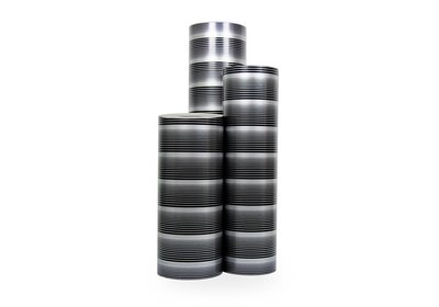 Kadopapier 30/50 cm 200 meter streep-zilver/zwart