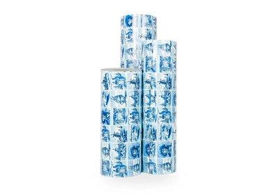 Kadopapier 30/50 cm 200 meter delfsblauw