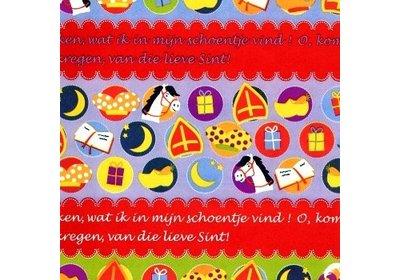 Sinterklaas kadopapier 30/50 cm 200 meter
