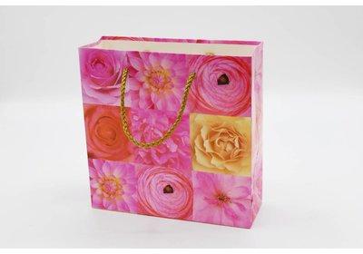 Papieren koorddraagtassen roos SALE
