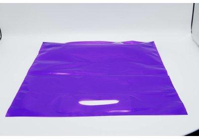 Plastic draagtas paars SALE