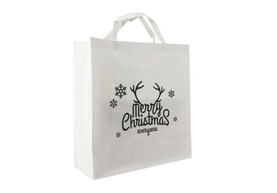 PP shopper Kerst merry christmas wit