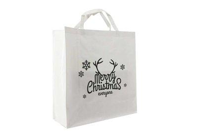 PP shopper Kerst merry christmas wit