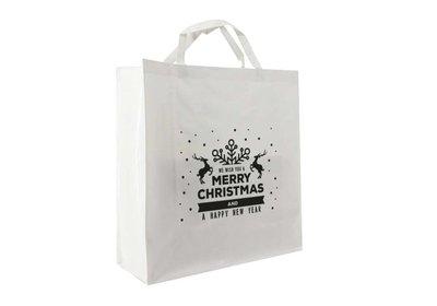 PP shopper Kerst best wisher wit