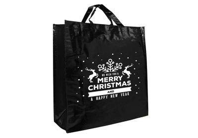 PP shopper Kerst best wishes zwart
