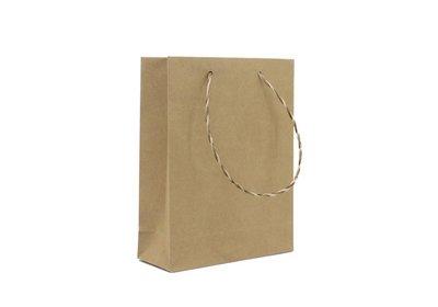 Eco papieren koorddraagtas bruin
