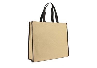 Eco papieren draagtas Kraft met Non Woven