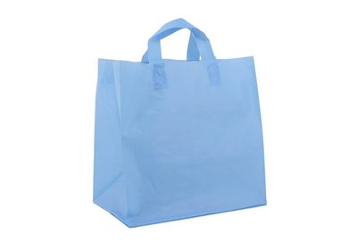 Plastic lus draagtas Take Away Blauw