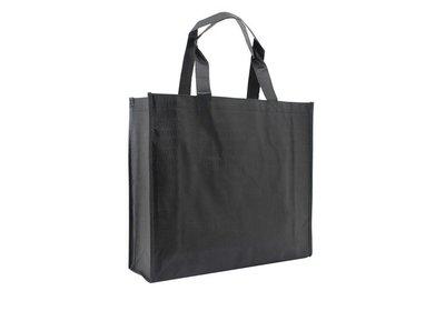 Non Woven Shopper Croco Zwart