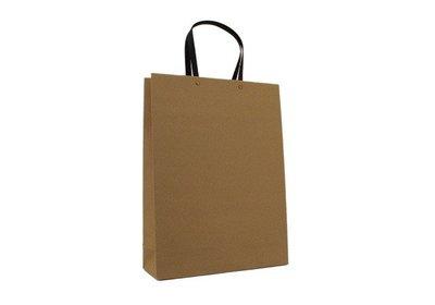 Eco papieren draagtas bruin