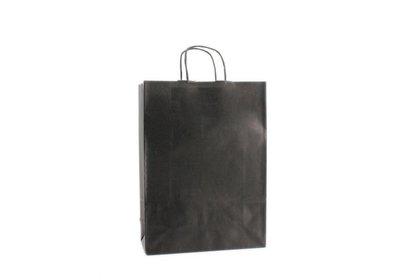 Papieren twisted draagtas Zwart