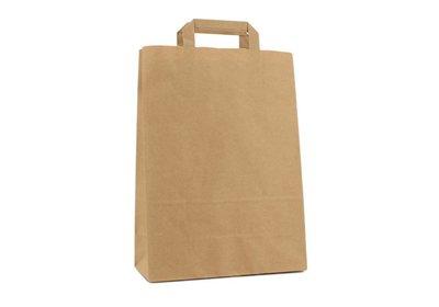 Budget papieren lus draagtas bruin