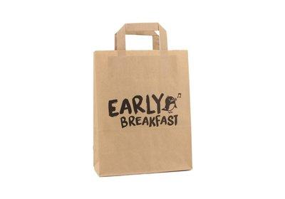 Papieren lus draagtas early breakfast